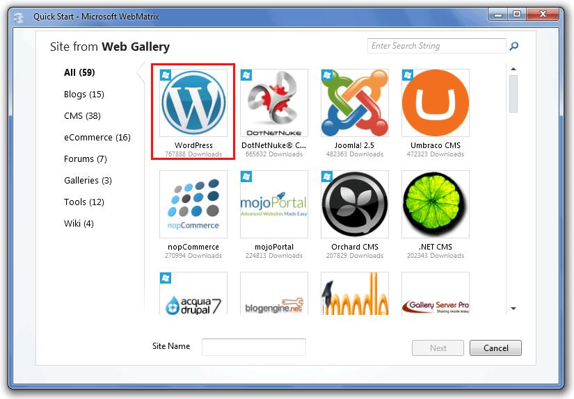 install wordpress in local host