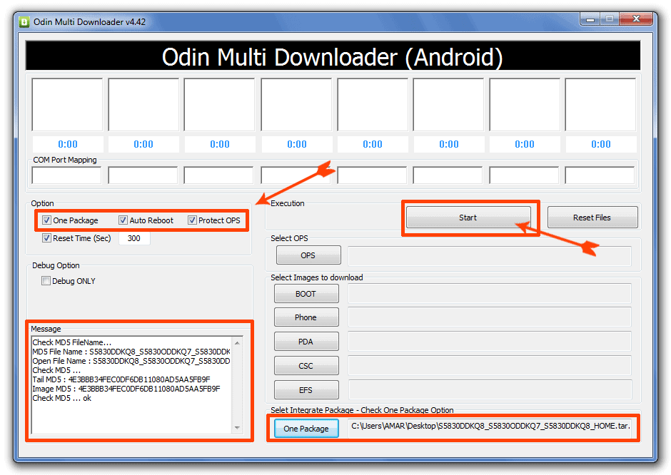 Unbrick your mobile using Odin One Package