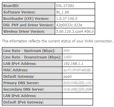 D-Link Device Info