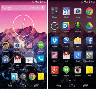 Android kitkat launcher