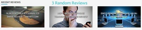 Geek Dashboard random reviews