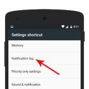 Pick Notification Log to add new widget