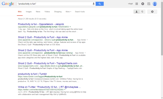 Google exact phase search