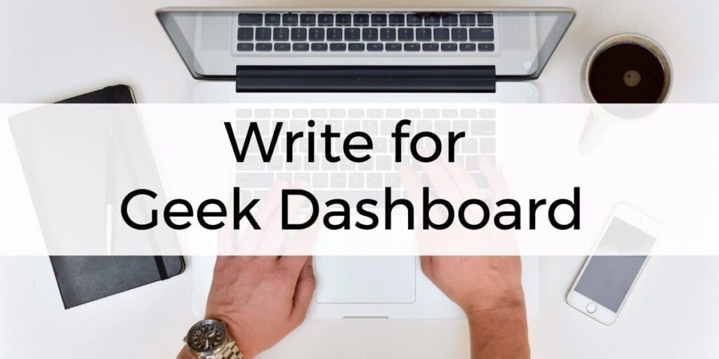 Write for Geek Dashboard