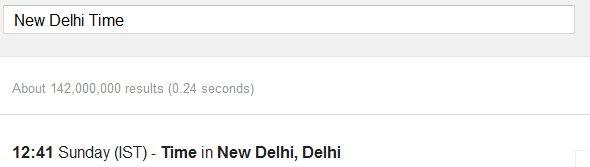 Google Search Time