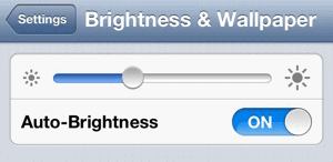 Auto Brightness on iPhone 4S and iPhone 5