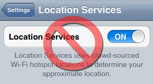 disable location services on iphone 4S and iPhone 5