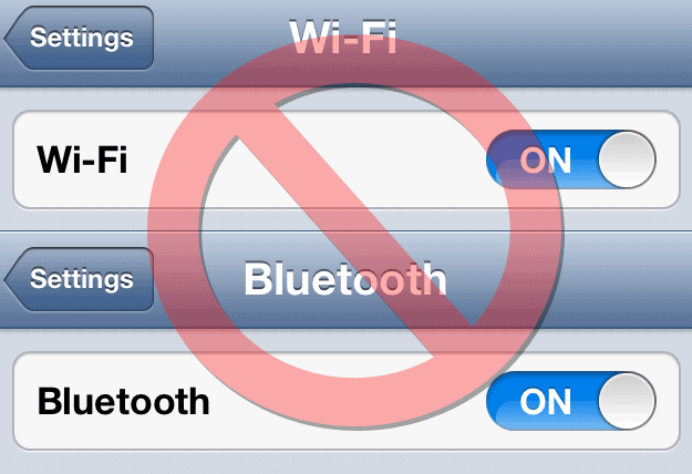 Turn-off wi-fi and bluetooth