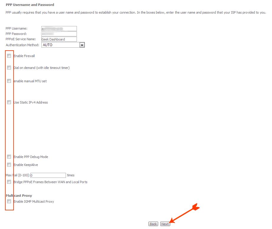 BSNL Username and password