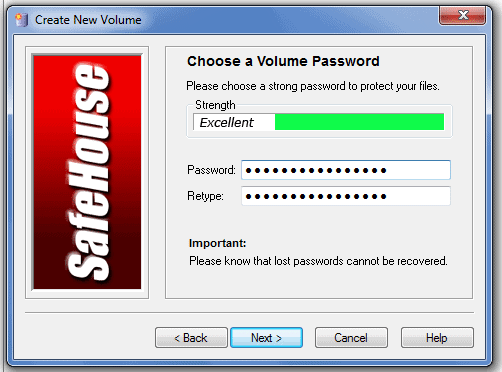 Password Protect Files and Folders Allocate space