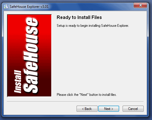 Password Protect Files and Folders installition