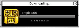 Temple Run is downloading