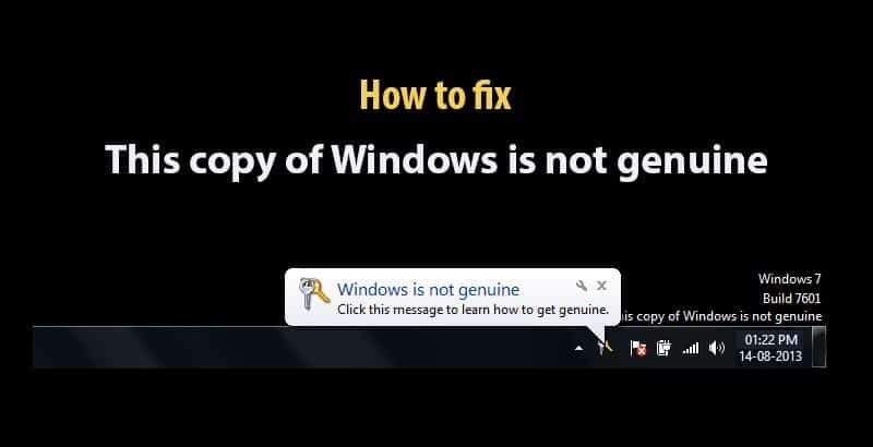 This guide will show you how to fix this copy of Windows is not genuine error