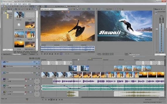 Sony Vegas Movie Studio Video Editing Software