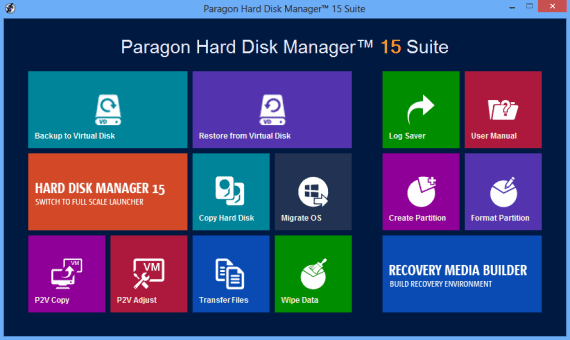 Paragon Hard Disk Manager 15 Backup and Restore Tool