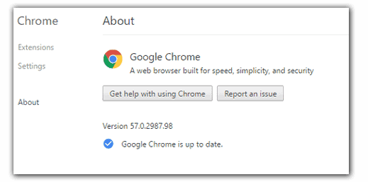 Chrome 57 update