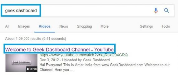 how to use search engine to find a video