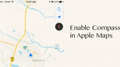 How to enable compass in Apple maps
