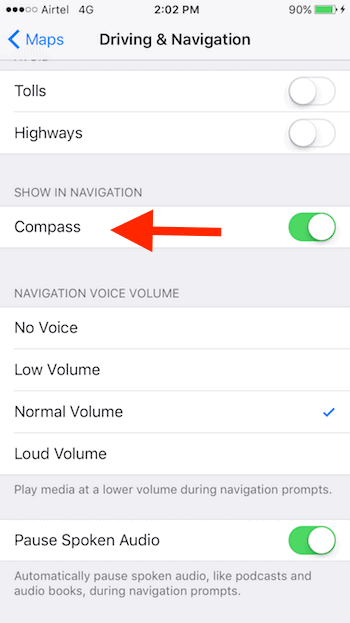 enable-compass-in-apple-maps