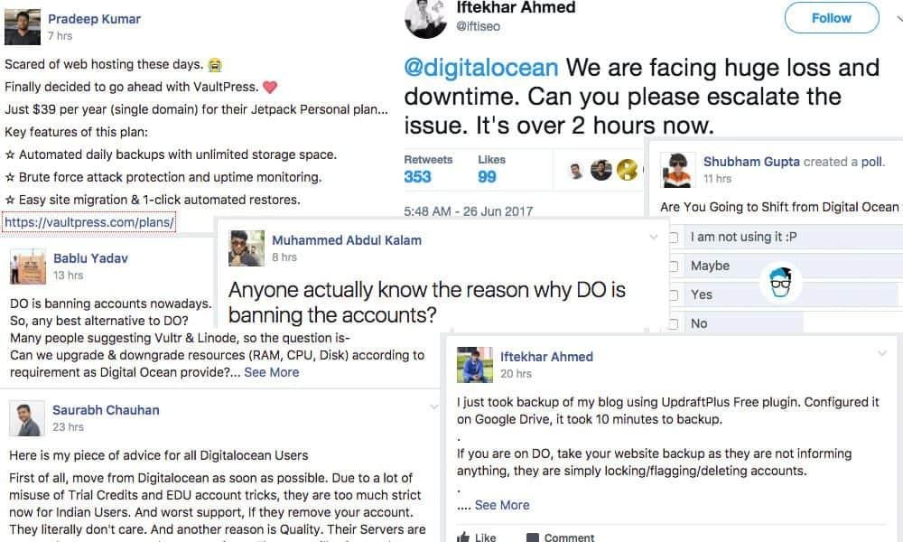 DigitalOcean users response