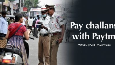 You can pay traffic challans with Paytm now