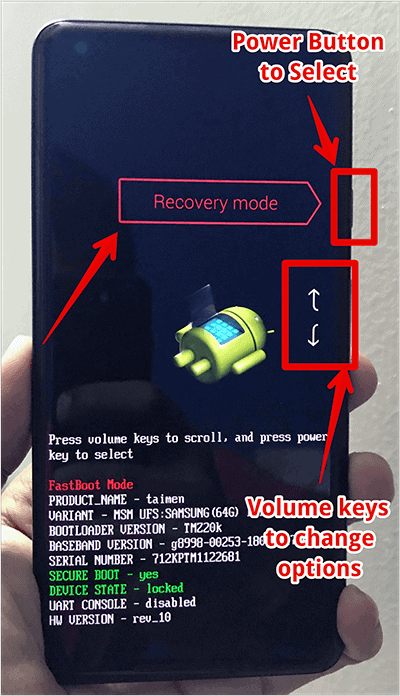 Accessing Recovery Mode in Google Pixel Devices