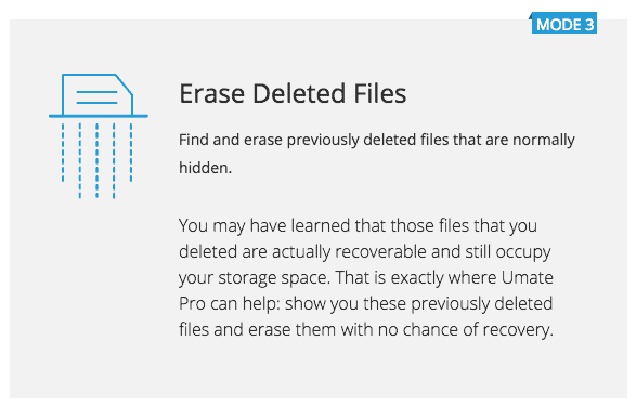 erase deleted files