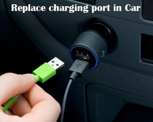 phone charging port in car