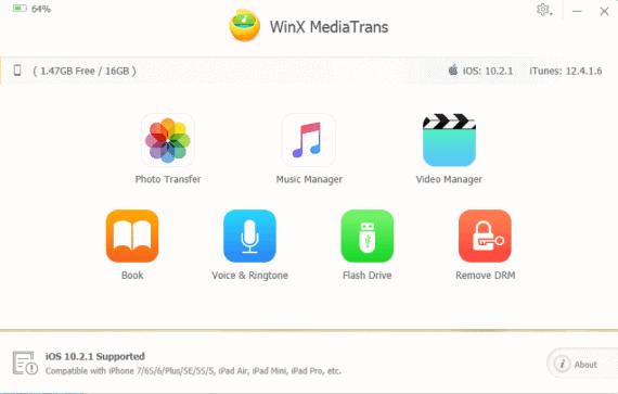 WinX MediaTrans Music Manager