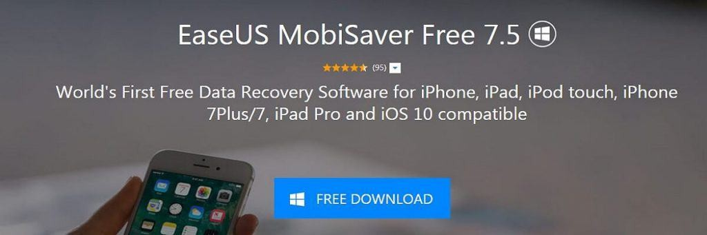 easus mobisaver iphone data recovery app
