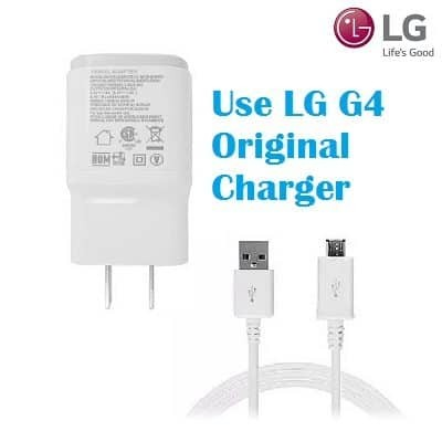 Use original charger to charge LG G4 that won't turn on