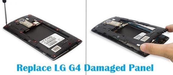 Replace damaged panel of dead LG G4