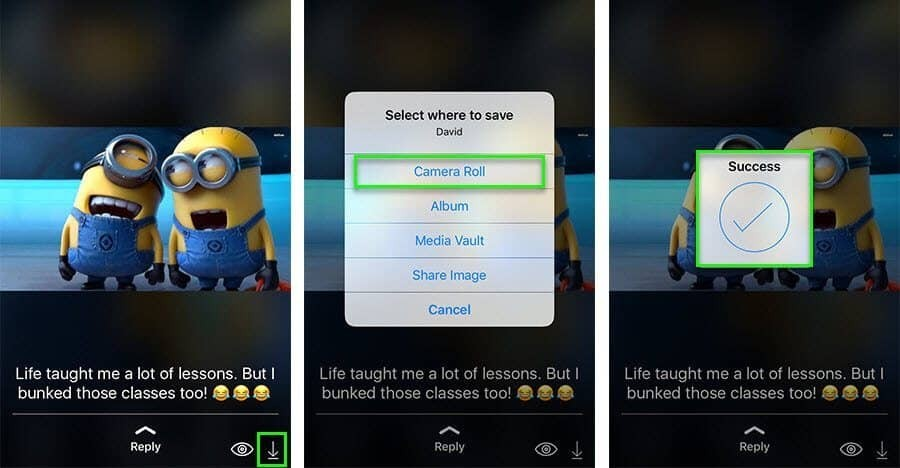 Save WhatsApp status images and videos on iPhone