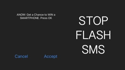 Stop Flash SMS in iPhone and iPad