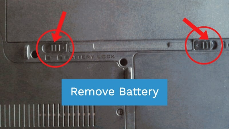 Reinsert laptop battery to fix the issue Restoring your Previous Version of Windows