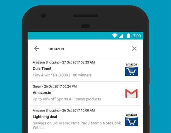 search notifications log
