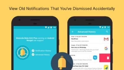 view old notifications in android
