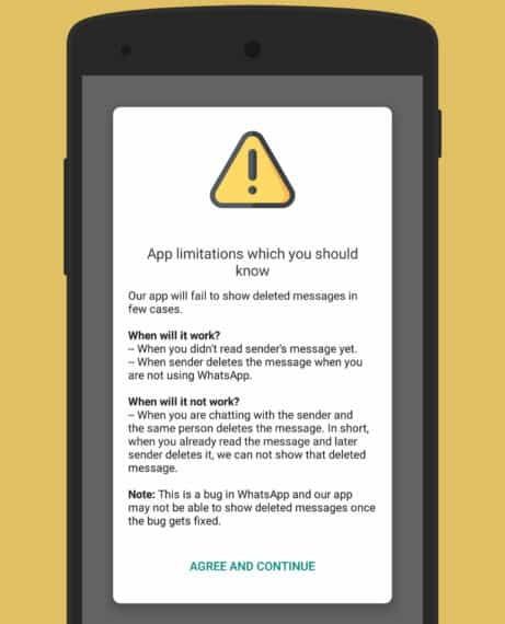 read app limitations and click continue