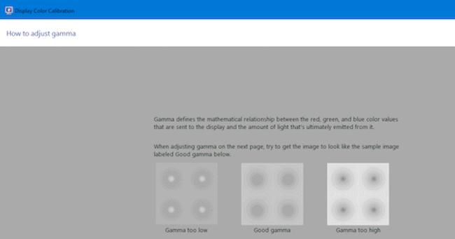 Windows 10 color calibration settings