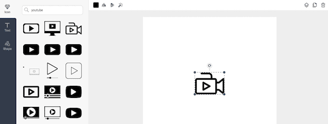 resize and rotate icons