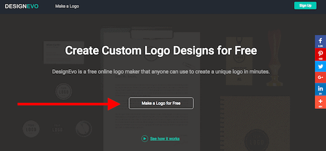 """Click """"Make a Logo for Free"""" to get started"""