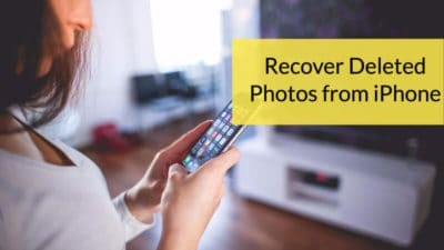 step by step guide to recover deleted photos from iPhone