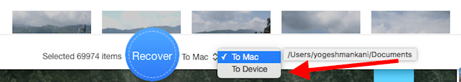 restore deleted photos from iPhone to Mac