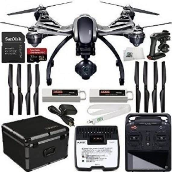 This is a great drone that gives access to the most beautiful and clear aerial shots. It includes the ability to capture those perfect ground shots as well. This is using the Handheld Steady Grip. It has a lightweight battery that has a life expectancy of up to 25 minutes. The drone itself comes with an aluminum carrying case that is great for transport.