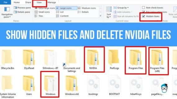 delete old nvidia files and folders
