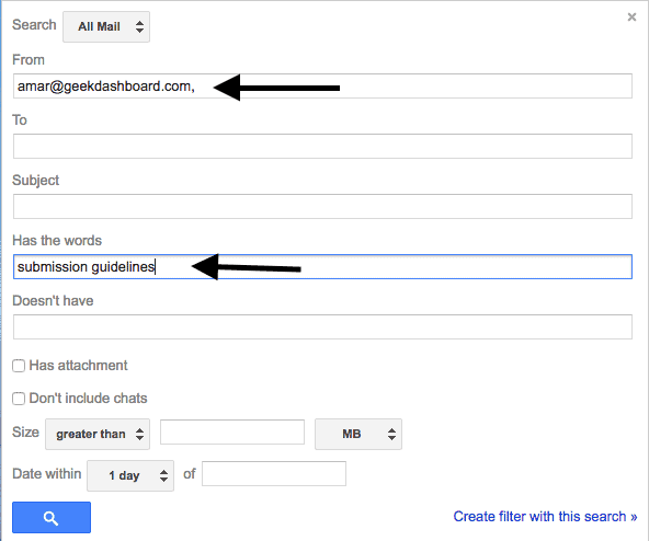 put name and phrase in advanced search