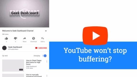 YouTube app keeps buffering