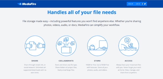 mediafire send large video file over internet