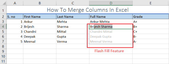 shortcut for merging cells in excel
