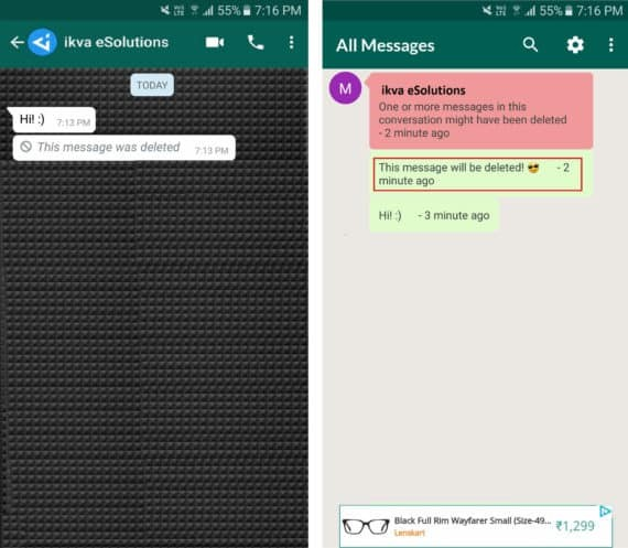 view whatsapp deleted messages
